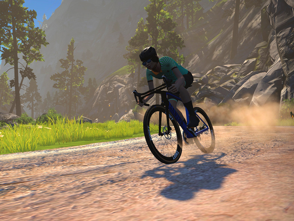Criterium & Gravelbikes in Zwift