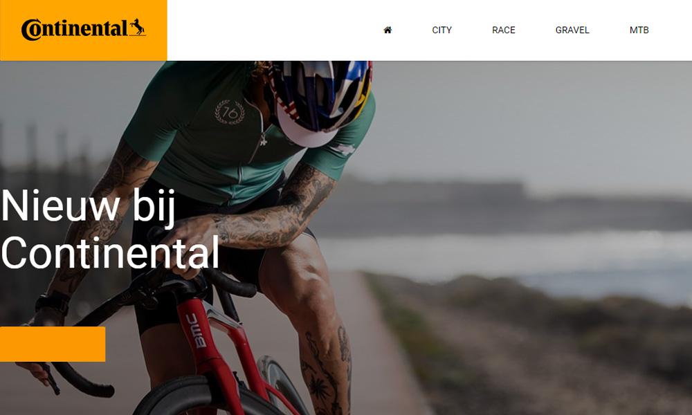 PBG 2Wheel lanceert nieuwe website voor Continental fietsbanden